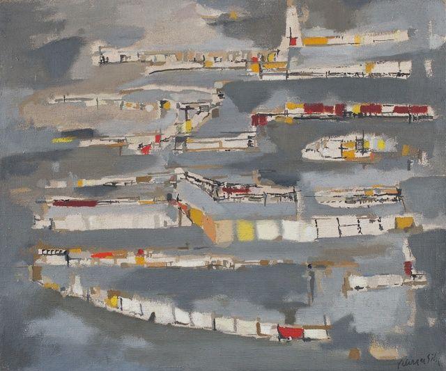 Maria Helena Vieira da Silva, 'La Ville Haute,' 1952, Paulo Kuczynski Escritório de Arte