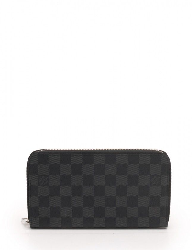 63d73115b75e eBay  Sponsored Louis Vuitton N63077 Zippy Organizer Wallet Damier Graphite  Black FS Mint  0474