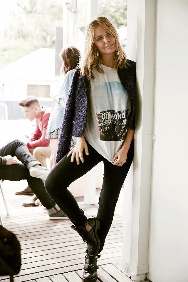 Nice casual top and love the shoes