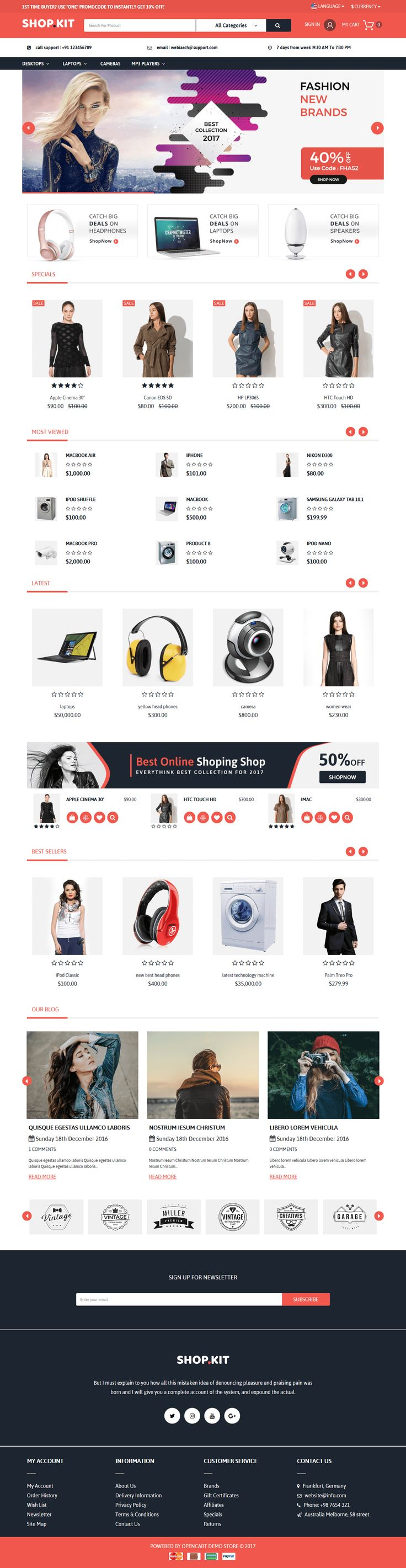 45 best Opencart Theme Templates images on Pinterest