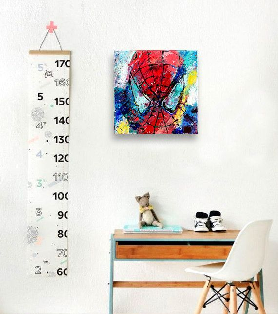 SPIDERMAN Original painting 8 Spiderman Wall Decor by CalinaLefter