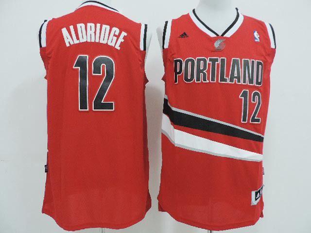 Portland Trail Blazers Aldrige #12 Red Jersey