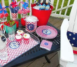 party essentials!July Chevron, Holiday Ideas, Decor Ideas, Chevron Decor, Fourth Of July, 4Th Of July, Parties Ideas, July 4Th, Parties Time