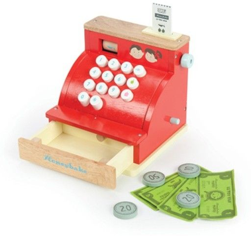 Le Toy Van - Honeybake Cash Register #EntropyWishList #PinToWin My daughter loves shopping and playing cashier! This wooden one will last forever!