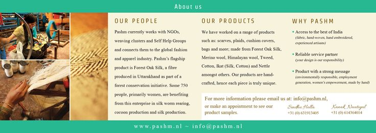 Long A5 Flyer for Pashm (Back)
