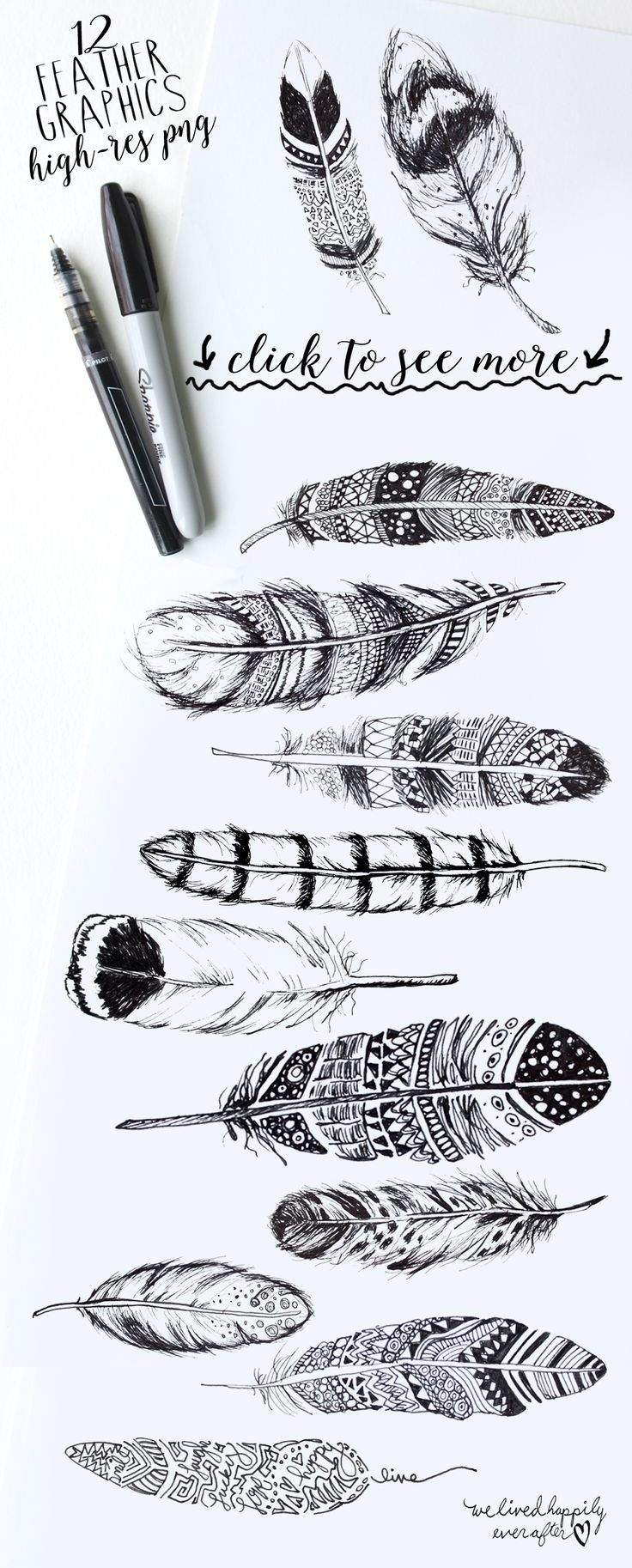 These Boho Rustic Feathers are part of our December Big Bundle! See what we've got in store!