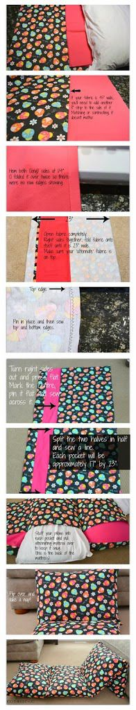Create a fold up chair/mattress with pillows!