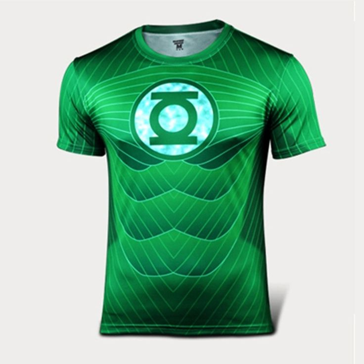 Green Lantern Quick-dry Sports T-shirt, Breathable Short Sleeve T-shirt For Outdoor Sports.