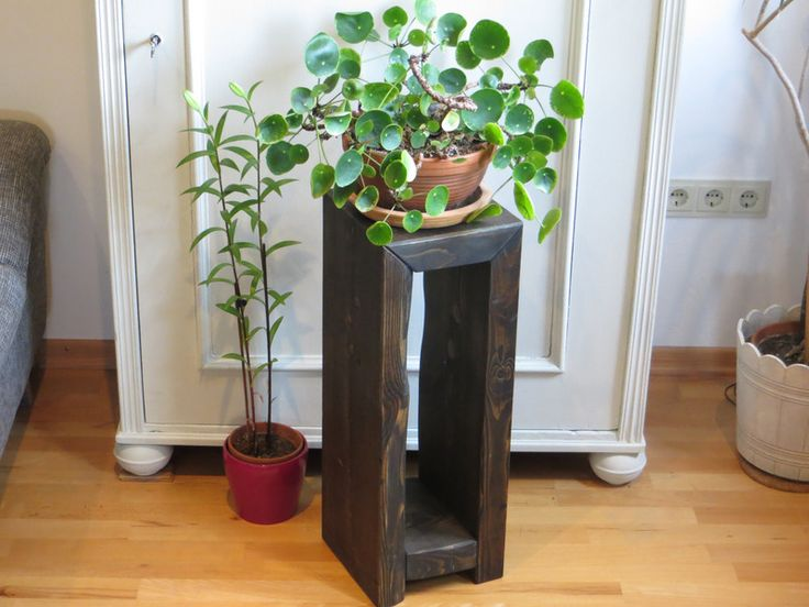 Kerzenständer - Holzsäule, Holzsockel, Blumensäule, Dekosäule - ein Designerstück von lieblingsmoebel bei DaWanda