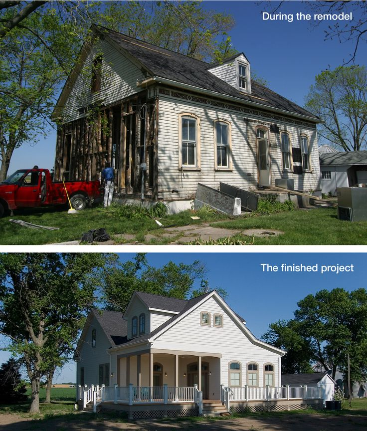 Old Farmhouse Before And After