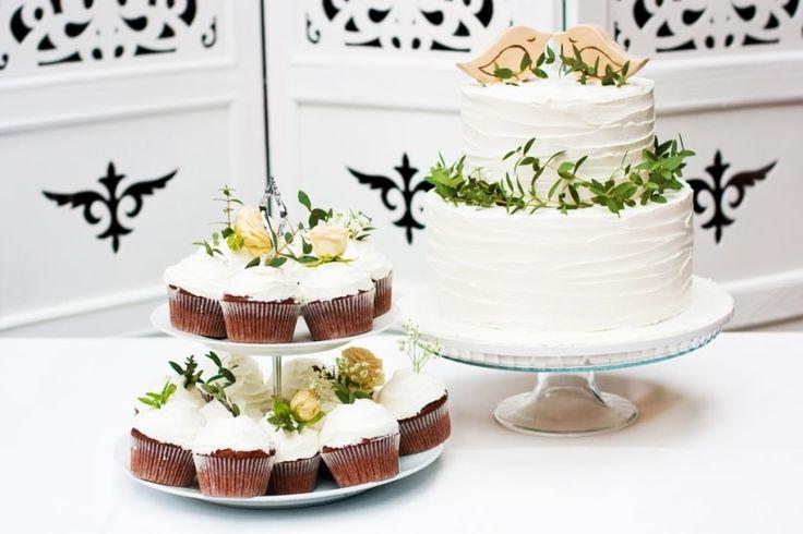 Decoración para una torta muy primaveral