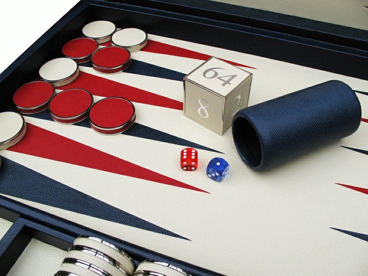 A bespoke patriotic backgammon board #Bespoke #Backgammon #Handmade #Attaché #Contemporary #Luxury