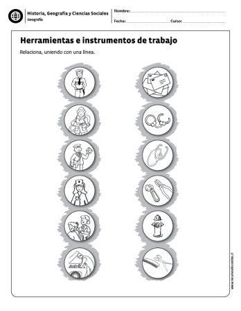 Herramientas e instrumentos de trabajo