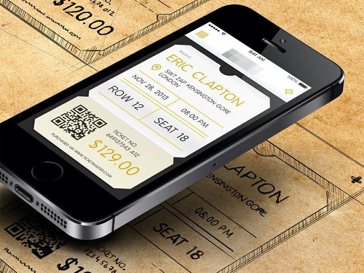 Ticket app homescreen