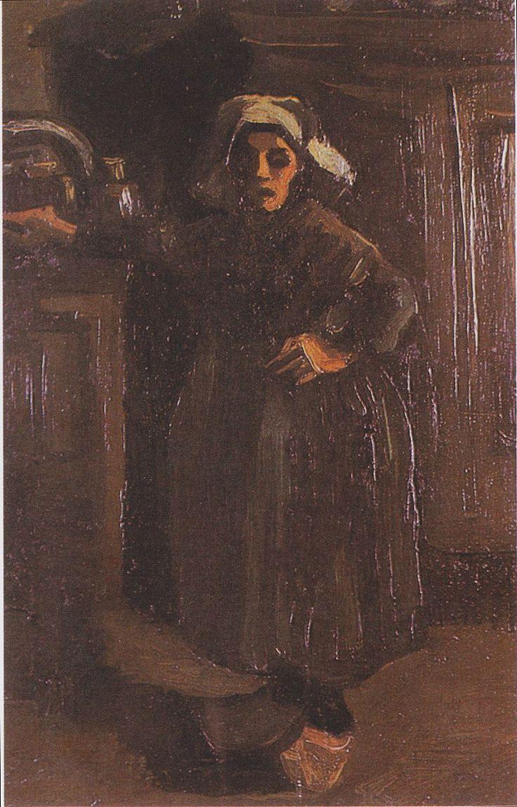 Van Gogh - Bäuerin im Hausflur stehend, 1885