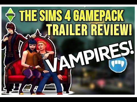 The Sims 4 Vampires Game Pack Trailer Review/Discussion!