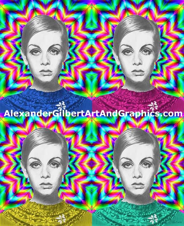 Twiggy celebrity artwork by Alexander Gilbert.  Buy prints here: http://fineartamerica.com/featured/2-twiggy-alexander-gilbert.html  Original pencil sketch here: http://fineartamerica.com/featured/twiggy-pencil-alexander-gilbert.html