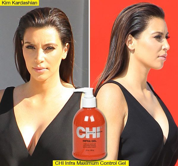 Kim+Kardashian's+Edgy+Slicked+Back+Hairstyle:+How+To+Get+The+Look