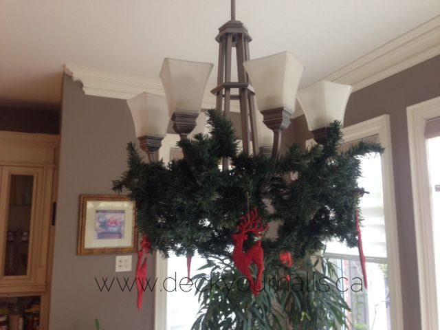Christmas Chandelier Decorating homes and biz for the Holidays in Toronto.  www.deckyourhalls.ca