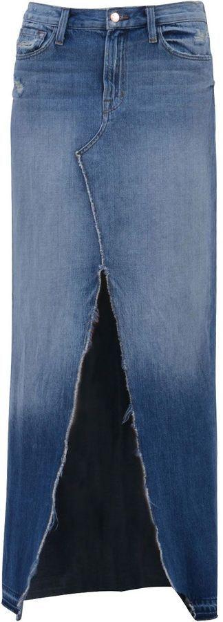 J Brand Long Denim Skirt With Slit