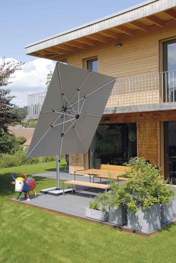 Sonnenschirm Shademaker Ampelschirm Sirius 300x300cm Windsicher