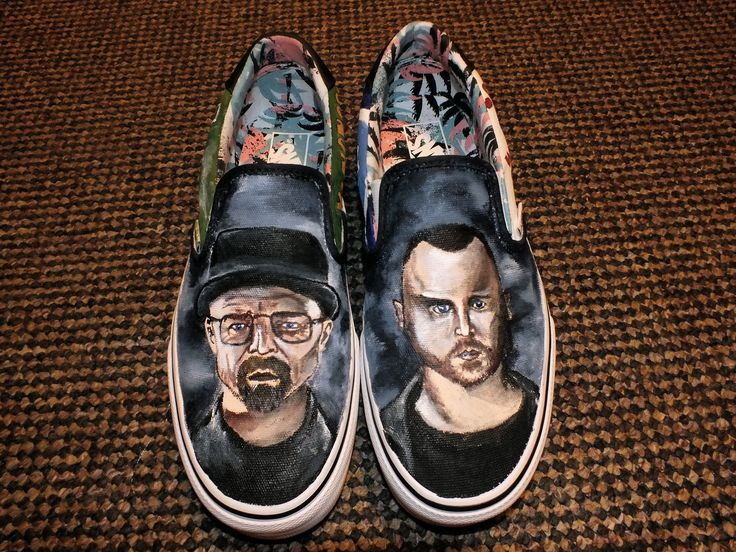Hand painted shoes, that I originally gave as a birthday present.  I bought a plain pair of shoes and then painted custom pictures and designs on them