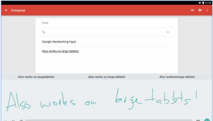 Aplikasi tulisan tangan dan catatan di android - Google Handwritting Input