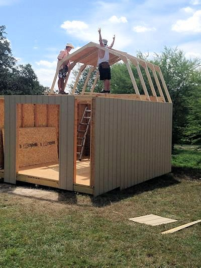 Everything you need know to build your own awesome shed! If you double or triple it, it could become an ideal small home.