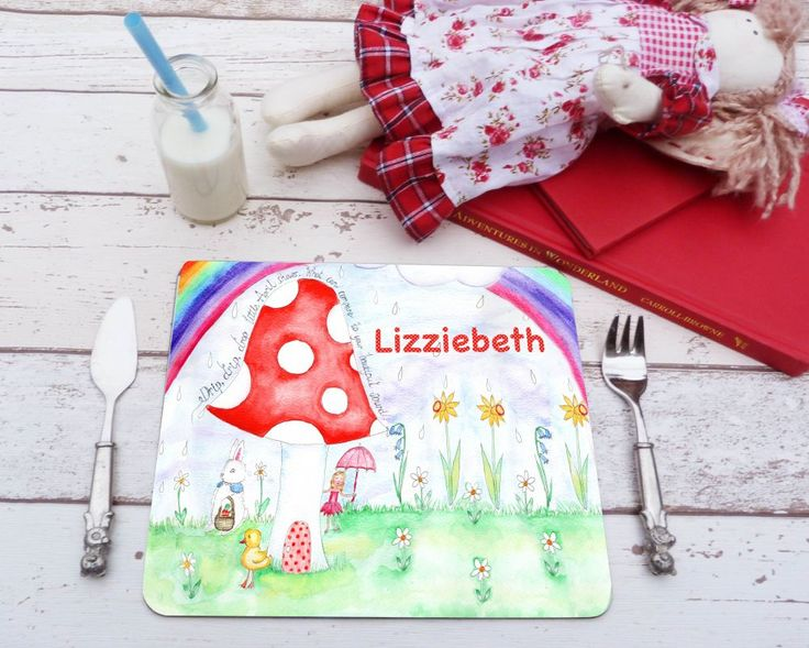 April Showers personalised placemat