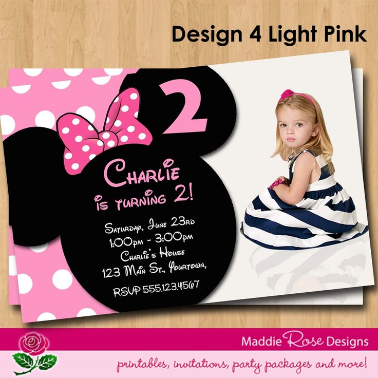 Minnie Mouse 2nd Birthday Invitations for your inspiration to make invitation template look beautiful