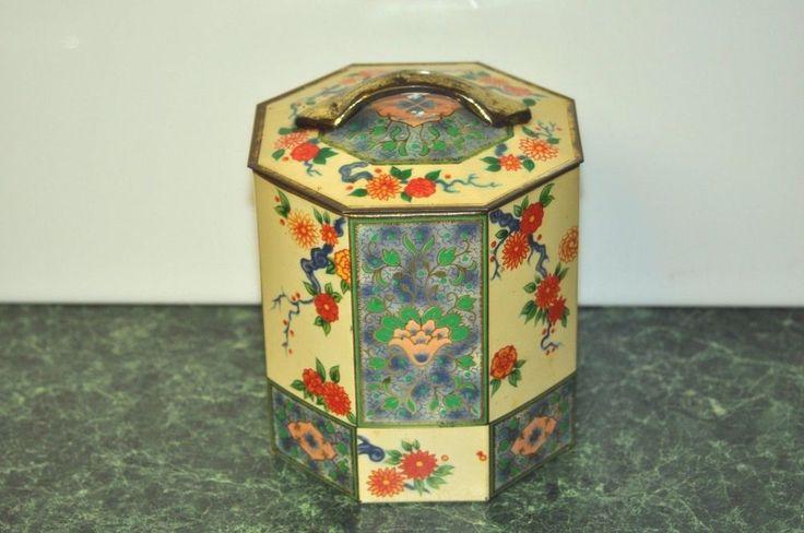 Vintage Baret Ware Art Grace Metal Candy Tin Container  | eBay