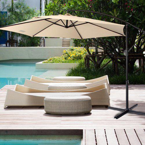 Euro Style Collection 10' Fabric Steel Patio Garden Cantilever Umbrella. #ad