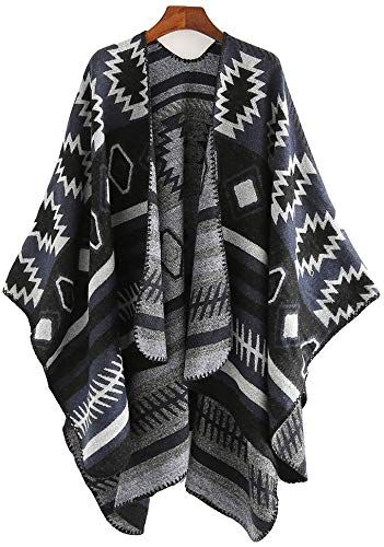 Ny TBATM Komfort sjal kappe for kvinner, imitasjon Cashmere skjerf Poncho vinter varmt geometrisk mønster cardigans Cape bursdagsfest gave mor kone datter, D online shopping  New TBATM Women's Comfort Shawl Cloak, Imitation Cashmere Scarf Poncho Winter Warm Geometric Pattern Cardigans Cape Birthday Party Gift for Mother Wife and Daughter,D Womens Scarves. [$37.4] perfectpartyideas Fashion is a popular style