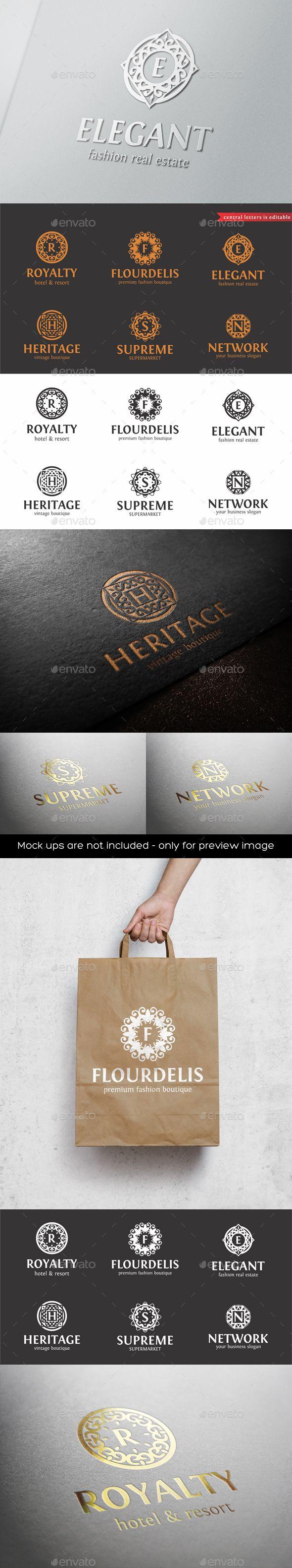 Elegant Boutique Logo Badges Monogram  — EPS Template #apartment #romantic wedding • Download ➝ https://graphicriver.net/item/elegant-boutique-logo-badges-monogram/18161027?ref=pxcr