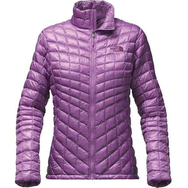 The North Face Women's ThermoBall Full Zip Jacket ($139) ❤ liked on Polyvore featuring activewear, activewear jackets, bellflower purple and the north face