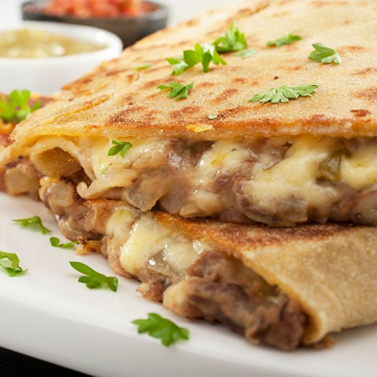 This bean and cheese quesadilla recipe is a great meal when you are in a hurry.. Bean and Cheese Quesadilla Recipe from Grandmothers Kitchen.