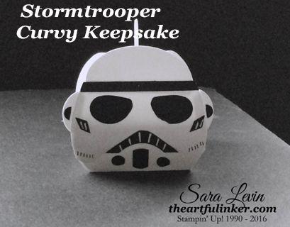 Star Wars Stormtrooper box using Stampin Up Curvy Keepsake die By theartfulinker.com