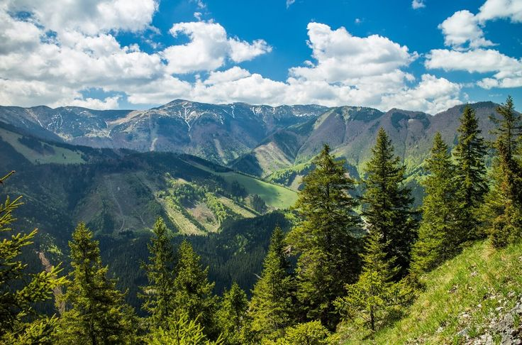 View at the main ridge of Mala Fatra mountains