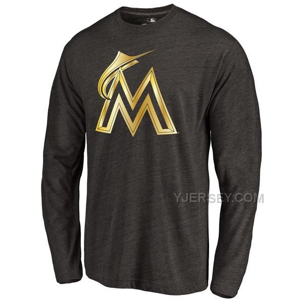 http://www.yjersey.com/miami-marlins-gold-collection-long-sleeve-tri-blend-tshirt-black.html MIAMI MARLINS GOLD COLLECTION LONG SLEEVE TRI BLEND T-SHIRT BLACKOnly$30.00 Free Shipping!