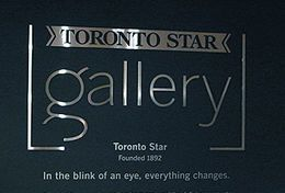 Toronto Star office dimensional sign made for toronto star gallery at front street in toronto by Art Signs