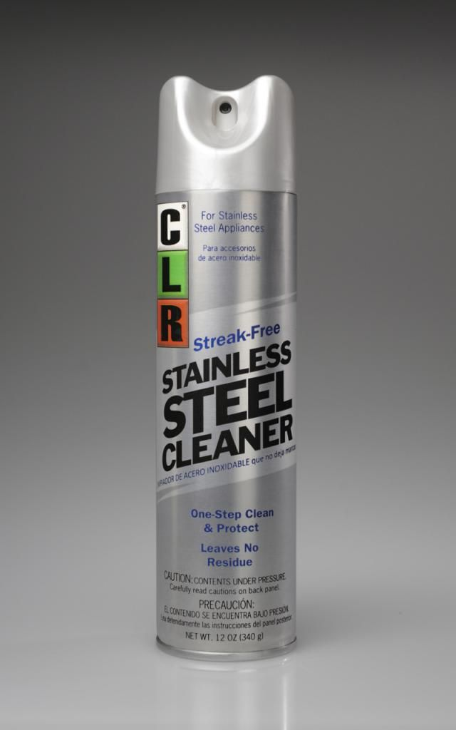 Favorite cleaners for stainless steel appliances and more: CLR Stainless Steel Cleaner