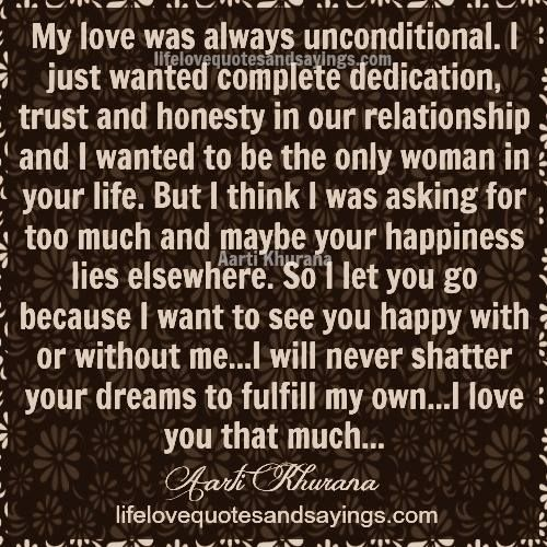 My Love Was Always Unconditional I Just Wanted Complete -2897