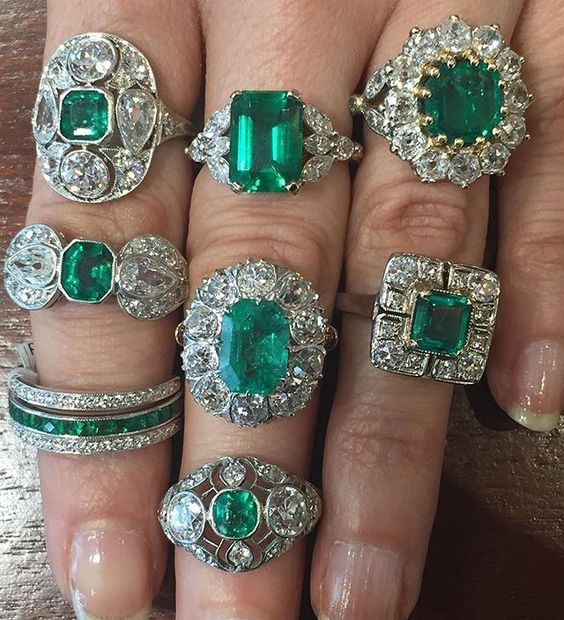 diamond april rings emeral emerald gold gemstone jewellery ring and stone green