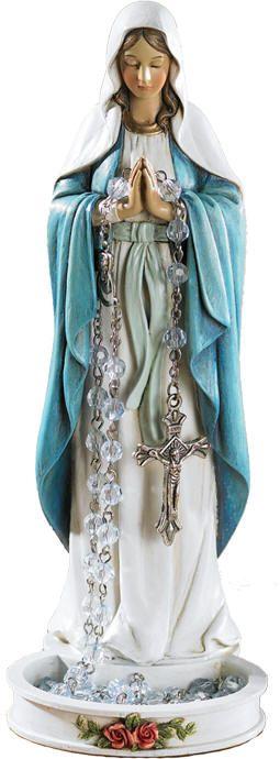 Mary statue rosary holder