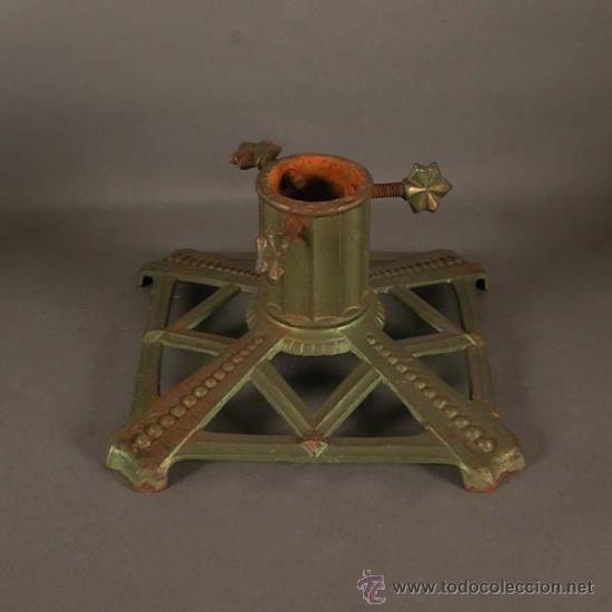 soporte para arbol de navidad de hierro