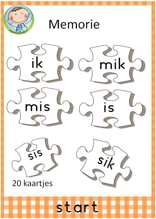 Spellepakket start. Mooi pakket met 12 verschillende spelletjes. Leuk te gebruiken in groep 3 bij VLL kim versie. Memorie met puzzelstukjes.