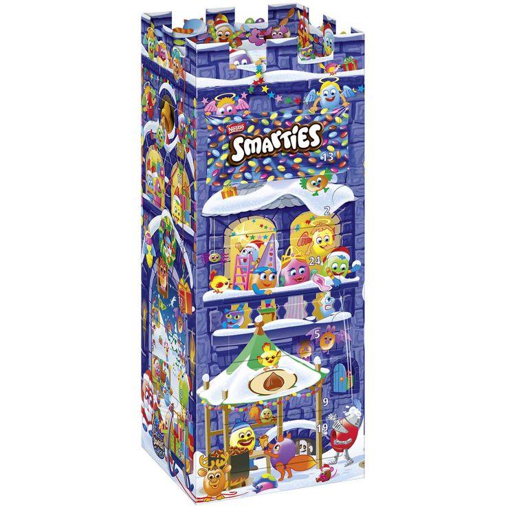 Smarties Advent Calendar Tower #Smarties #advencalendar #christmas