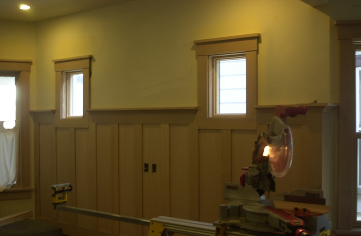 17 best images about wainscoting and trim on pinterest for Arts and crafts wainscoting