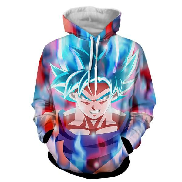 Sayin God Goku Dragon Ball DBZ 3D Printed Hoodie