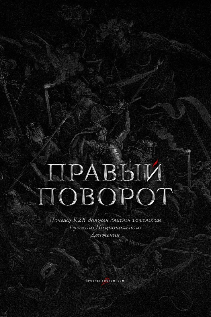 Правый поворот: почему К25 должен стать зачатком Русского Национального Движения — Sputnik & Pogrom